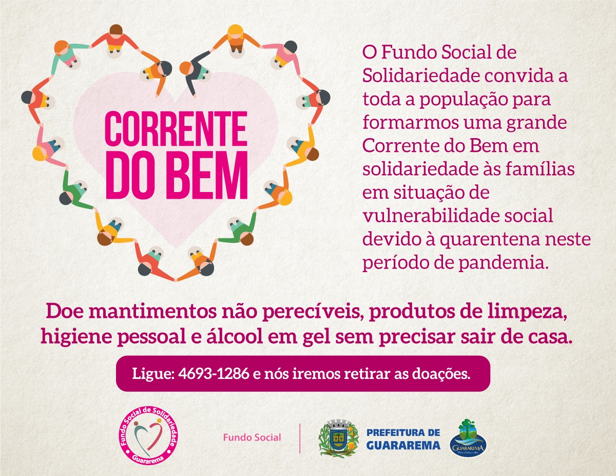 Fundo Social lança campanha de doações durante pandemia