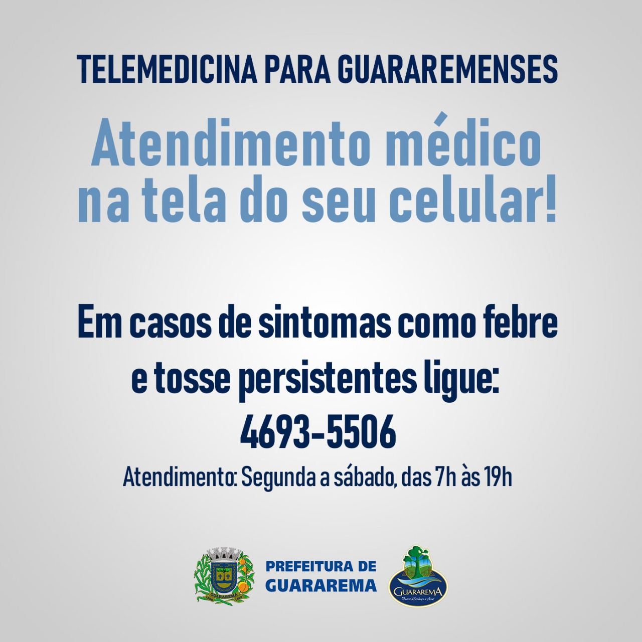 Prefeitura implanta telemedicina para casos suspeitos de Coronavírus